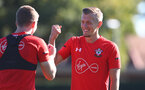 SOUTHAMPTON, ENGLAND - OCTOBER 09: Matt Targett(L) and James Ward-Prowse during a Southampton FC training session at the Staplewood Campus on October 9, 2018 in Southampton, England. (Photo by Matt Watson/Southampton FC via Getty Images)