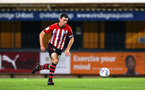 CAMBRIDGE, ENGLAND - OCTOBER 09: Thomas O'Connor (middle) during the U21s Checkatade Trophy between Cambridge United and Southampton FC pictured at Abbey Stadium on October 9, 2018 in Cambridge, England. (Photo by James Bridle - Southampton FC/Southampton FC via Getty Images)