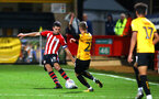 CAMBRIDGE, ENGLAND - OCTOBER 09: Thomas O'Connor (left) of Southampton FC during the U21s Checkatade Trophy between Cambridge United and Southampton FC pictured at Abbey Stadium on October 9, 2018 in Cambridge, England. (Photo by James Bridle - Southampton FC/Southampton FC via Getty Images)
