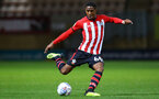 CAMBRIDGE, ENGLAND - OCTOBER 09: Kayne Ramsay of Southampton FC  (middle) during the U21s Checkatade Trophy between Cambridge United and Southampton FC pictured at Abbey Stadium on October 9, 2018 in Cambridge, England. (Photo by James Bridle - Southampton FC/Southampton FC via Getty Images)