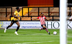 CAMBRIDGE, ENGLAND - OCTOBER 09: Tyreke Johnson (Right) of Southampton FC during the U21s Checkatade Trophy between Cambridge United and Southampton FC pictured at Abbey Stadium on October 9, 2018 in Cambridge, England. (Photo by James Bridle - Southampton FC/Southampton FC via Getty Images)