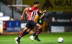 CAMBRIDGE, ENGLAND - OCTOBER 09: Marcus Barnes (middle) during the U21s Checkatade Trophy between Cambridge United and Southampton FC pictured at Abbey Stadium on October 9, 2018 in Cambridge, England. (Photo by James Bridle - Southampton FC/Southampton FC via Getty Images)
