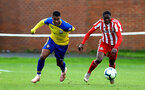 SUNDERLAND, ENGLAND - OCTOBER 28: Yan Valery (left) during the during the U23s Premier League 2 match between Sunderland and Southampton FC, 2018 in Sunderland, England. (Photo by James Bridle - Southampton FC/Southampton FC via Getty Images)