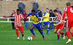 SUNDERLAND, ENGLAND - OCTOBER 28: Jonathan Afolabi (middle) during the during the U23s Premier League 2 match between Sunderland and Southampton FC, 2018 in Sunderland, England. (Photo by James Bridle - Southampton FC/Southampton FC via Getty Images)