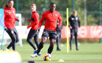 SOUTHAMPTON, ENGLAND - OCTOBER 30: Michael Obafemi during a Southampton FC training session at the Staplewood Campus on October 30, 2018 in Southampton, England. (Photo by Matt Watson/Southampton FC via Getty Images)