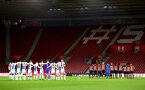 SOUTHAMPTON, ENGLAND - NOVEMBER 02: Minute Silence for Leicester City helicopter crash during the U23s Premier League 2 match between Southampton FC and Westbrom Albion FC, 2018 in Southampton, England. (Photo by James Bridle - Southampton FC/Southampton FC via Getty Images)
