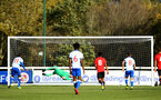 READING, ENGLAND - NOVEMBER 03: Jack Bycroft makes a save during the under 18s Premier league match between Reading FC and Southampton FC, 2018 in Reading, England. (Photo by James Bridle - Southampton FC/Southampton FC via Getty Images)