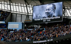 MANCHESTER, ENGLAND - NOVEMBER 04: a mninute's silence to honour Leicester City chairman Vichai Srivaddhanaprabha during the Premier League match between Manchester City and Southampton FC at Etihad Stadium on November 4, 2018 in Manchester, United Kingdom. (Photo by Matt Watson/Southampton FC via Getty Images)