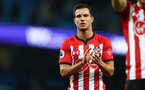 MANCHESTER, ENGLAND - NOVEMBER 04: Cedric of Southampton during the Premier League match between Manchester City and Southampton FC at Etihad Stadium on November 4, 2018 in Manchester, United Kingdom. (Photo by Matt Watson/Southampton FC via Getty Images)