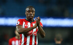 MANCHESTER, ENGLAND - NOVEMBER 04: Michael Obafemi of Southampton during the Premier League match between Manchester City and Southampton FC at Etihad Stadium on November 4, 2018 in Manchester, United Kingdom. (Photo by Matt Watson/Southampton FC via Getty Images)
