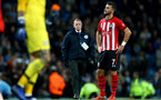 MANCHESTER, ENGLAND - NOVEMBER 04: Shane Long of Southampton during the Premier League match between Manchester City and Southampton FC at Etihad Stadium on November 4, 2018 in Manchester, United Kingdom. (Photo by Matt Watson/Southampton FC via Getty Images)