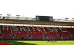 SOUTHAMPTON, ENGLAND - NOVEMBER 07: General View during a Southampton FC training session at St Mary's Stadium on November 7, 2018 in Southampton, England. (Photo by James Bridle - Southampton FC/Southampton FC via Getty Images)