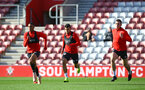 SOUTHAMPTON, ENGLAND - NOVEMBER 07: LtoR Yan Valery, Mohamed Elyounoussi, Pierre-Emile H¿jbjerg during a Southampton FC training session at St Mary's Stadium on November 7, 2018 in Southampton, England. (Photo by James Bridle - Southampton FC/Southampton FC via Getty Images) SOUTHAMPTON, ENGLAND - NOVEMBER 07: LtoR Yan Valery, Mohamed Elyounoussi, Pierre-Emile Højbjerg during a Southampton FC training session at St Mary's Stadium on November 7, 2018 in Southampton, England. (Photo by James Bridle - Southampton FC/Southampton FC via Getty Images)