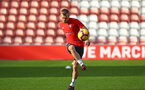 SOUTHAMPTON, ENGLAND - NOVEMBER 07: James Ward-Prowse during a Southampton FC training session at St Mary's Stadium on November 7, 2018 in Southampton, England. (Photo by James Bridle - Southampton FC/Southampton FC via Getty Images)