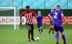 SOUTHAMPTON, ENGLAND - NOVEMBER 10: Allan Tchaptchet (left) during the U18 Premier League match between Southampton FC and Stoke City FC pictured at Staplewood Complex on November 10, 2018 in Southampton, England. (Photo by James Bridle - Southampton FC/Southampton FC via Getty Images)
