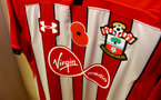 SOUTHAMPTON, ENGLAND - NOVEMBER 10: Southampton FC shirts featuring the remembrance poppy, inside the dressing room of Southampton ahead of the Premier League match between Southampton FC and Watford FC at St Mary's Stadium on November 10, 2018 in Southampton, United Kingdom. (Photo by Matt Watson/Southampton FC via Getty Images)