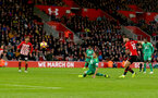 SOUTHAMPTON, ENGLAND - NOVEMBER 10: Charlie Austin of Southampton scores but his goal is ruled out during the Premier League match between Southampton FC and Watford FC at St Mary's Stadium on November 10, 2018 in Southampton, United Kingdom. (Photo by Matt Watson/Southampton FC via Getty Images)
