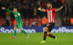 SOUTHAMPTON, ENGLAND - NOVEMBER 10: Charlie Austin of Southampton after his goal is dissallowed during the Premier League match between Southampton FC and Watford FC at St Mary's Stadium on November 10, 2018 in Southampton, United Kingdom. (Photo by Matt Watson/Southampton FC via Getty Images)