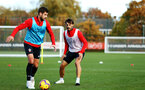 SOUTHAMPTON, ENGLAND - NOVEMBER 13: Jack Stephens, Manolo Gabbiadini during a Southampton FC training session at Staplewood Complex on November 13, 2018 in Southampton, England. (Photo by James Bridle - Southampton FC/Southampton FC via Getty Images)