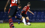 SOUTHEND, ENGLAND - NOVEMBER 14: Callum Slattery (right) during the Checkatrade Trophy match between Southend United and Southampton FC U21s pictured at Roots Hall on November 14, 2018 in Southend, England. (Photo by James Bridle - Southampton FC/Southampton FC via Getty Images)