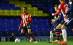 SOUTHEND, ENGLAND - NOVEMBER 14: Yan Valery (left) of Southampton FC during the Checkatrade Trophy match between Southend United and Southampton FC U21s pictured at Roots Hall on November 14, 2018 in Southend, England. (Photo by James Bridle - Southampton FC/Southampton FC via Getty Images)
