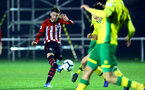 NORWICH, ENGLAND - NOVEMBER 23: Callum Slattery (left) during the U23s PL2 match between Norwich City and Southampton FC pictured at Colney Training Ground on November 23, 2018 in Norwich, England. (Photo by James Bridle - Southampton FC/Southampton FC via Getty Images)