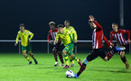 NORWICH, ENGLAND - NOVEMBER 23: Callum Slattery (right) takes a penalty during the U23s PL2 match between Norwich City and Southampton FC pictured at Colney Training Ground on November 23, 2018 in Norwich, England. (Photo by James Bridle - Southampton FC/Southampton FC via Getty Images)