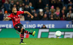 LEICESTER, ENGLAND - NOVEMBER 27: Nathan Redmond of Southampton during the Carabao Cup Fourth Round match between Leicester City and Southampton at The King Power Stadium on November 27th, 2018 in Leicester, England. (Photo by Matt Watson/Southampton FC via Getty Images)