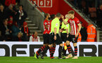SOUTHAMPTON, ENGLAND - DECEMBER 01: Stuart Armstrong of Southampton after scoring during the Premier League match between Southampton FC and Manchester United at St Mary's Stadium on December 1, 2018 in Southampton, United Kingdom. (Photo by Matt Watson/Southampton FC via Getty Images)