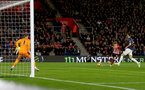 SOUTHAMPTON, ENGLAND - DECEMBER 01: Stuart Armstrong of Southampton opens the scoring during the Premier League match between Southampton FC and Manchester United at St Mary's Stadium on December 1, 2018 in Southampton, United Kingdom. (Photo by Matt Watson/Southampton FC via Getty Images)