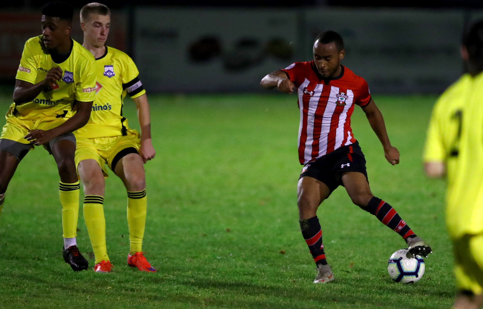 Tyreke Johnson of Southampton FC during the Hampshire Senior Cup match against Fleet Town FC, at the Testwood Stadium, Totton, Southampton, 3rd December 2018