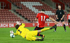 SOUTHAMPTON, ENGLAND - NOVEMBER 04: Will Ferry (right) during the U18's FA Youth Cup match between Southampton FC and Rotherham United pictured at St Mary's Stadium on December 4, 2018 in Southampton, England. (Photo by James Bridle - Southampton FC/Southampton FC via Getty Images)