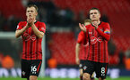 LONDON, ENGLAND - DECEMBER 05: James Ward-Prowse(L) and Steven Davis of Southampton during the Premier League match between Tottenham Hotspur and Southampton FC at Tottenham Hotspur Stadium on December 5, 2018 in London, United Kingdom. (Photo by Matt Watson/Southampton FC via Getty Images)