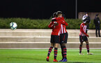 SOUTHAMPTON, ENGLAND - DECEMBER 14: Will Smallbone (left) scores for Southampton FC during the U23s PL2 match between Southampton FC and Newcastle United pictured at Staplewood Training Ground on December 14, 2018 in Southampton England. (Photo by James Bridle - Southampton FC/Southampton FC via Getty Images)
