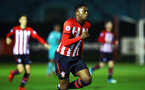 SOUTHAMPTON, ENGLAND - DECEMBER 14: Jonathan Afolabi  (middle) during the U23s PL2 match between Southampton FC and Newcastle United pictured at Staplewood Training Ground on December 14, 2018 in Southampton England. (Photo by James Bridle - Southampton FC/Southampton FC via Getty Images)