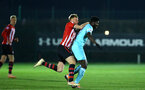 SOUTHAMPTON, ENGLAND - DECEMBER 14: Aaron O'Driscoll (left) during the U23s PL2 match between Southampton FC and Newcastle United pictured at Staplewood Training Ground on December 14, 2018 in Southampton England. (Photo by James Bridle - Southampton FC/Southampton FC via Getty Images)