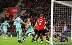 SOUTHAMPTON, ENGLAND - DECEMBER 16: Southampton's disallowed goal during the Premier League match between Southampton FC and Arsenal FC at St Mary's Stadium on December 15, 2018 in Southampton, United Kingdom. (Photo by Chris Moorhouse/Southampton FC via Getty Images)