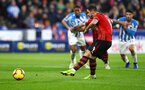HUDDERSFIELD, ENGLAND - DECEMBER 22:  Danny Ings of Southampton scores from the penalty spot to put his team 2-0 up during the Premier League match between Huddersfield Town and Southampton FC at John Smith's Stadium on December 22, 2018 in Huddersfield, United Kingdom. (Photo by Matt Watson/Southampton FC via Getty Images)