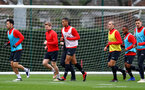 SOUTHAMPTON, ENGLAND - DECEMBER 25: players of Southampton warm up during a Southampton FC training session at the Staplewood Campus on December 25, 2018 in Southampton, England. (Photo by Matt Watson/Southampton FC via Getty Images)