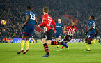 SOUTHAMPTON, ENGLAND - DECEMBER 27:  Nathan Redmond of Southampton shoots at goal during the Premier League match between Southampton FC and West Ham United at St Mary's Stadium on December 27, 2018 in Southampton, United Kingdom. (Photo by Matt Watson/Southampton FC via Getty Images)