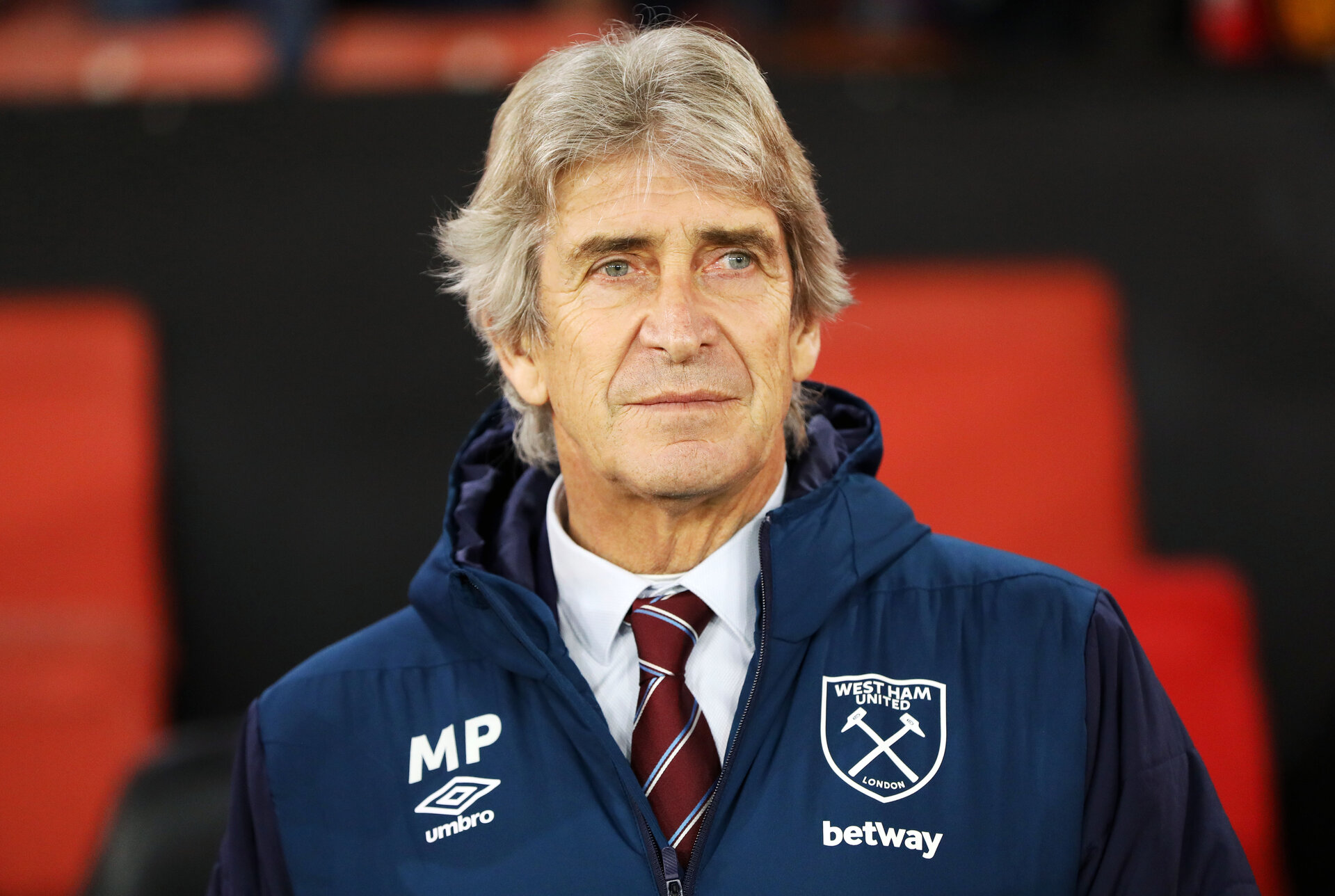 SOUTHAMPTON, ENGLAND - DECEMBER 27:  Manuel Pellegrini during the Premier League match between Southampton FC and West Ham United at St Mary's Stadium on December 26, 2018 in Southampton, United Kingdom. (Photo by Chris Moorhouse/Southampton FC via Getty Images)