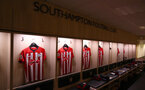 SOUTHAMPTON, ENGLAND - DECEMBER 30:  Inside the Southampton FC dressing room ahead of the Premier League match between Southampton FC and Manchester City at St Mary's Stadium on December 30, 2018 in Southampton, United Kingdom. (Photo by Matt Watson/Southampton FC via Getty Images)