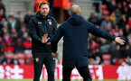 SOUTHAMPTON, ENGLAND - DECEMBER 30: Ralph Hasenhuttl during the Premier League match between Southampton FC and Manchester City at St Mary's Stadium on December 29, 2018 in Southampton, United Kingdom. (Photo by Chris Moorhouse/Southampton FC via Getty Images)