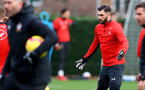 SOUTHAMPTON, ENGLAND - JANUARY 01: Charlie Austin of Southampton during a Southampton FC training session at the Staplewood Campus on January 01, 2019 in Southampton, England. (Photo by Matt Watson/Southampton FC via Getty Images)