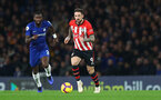 LONDON, ENGLAND - JANUARY 02: Danny Ings(R) of Southampton gets away from Antonio Rudiger of Chelsea during the Premier League match between Chelsea FC and Southampton FC at Stamford Bridge on January 02, 2019 in London, United Kingdom. (Photo by Matt Watson/Southampton FC via Getty Images)