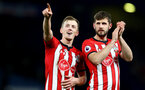 LONDON, ENGLAND - JANUARY 02: James Ward-Prowse(L) and Jack Stephens of Southampton during the Premier League match between Chelsea FC and Southampton FC at Stamford Bridge on January 02, 2019 in London, United Kingdom. (Photo by Matt Watson/Southampton FC via Getty Images)