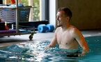 SOUTHAMPTON, ENGLAND - JANUARY 03: James Ward-Prowse in the pool during a Southampton FC recovery session at the Staplewood Campus on January 03, 2019 in Southampton, England. (Photo by Matt Watson/Southampton FC via Getty Images)