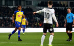 DERBY, ENGLAND - JANUARY 05: Marcus Barnes of Southampton  during the FA Cup Third Round match between Derby County and Southampton FC at Pride Park on January 05, 2019 in Derby, United Kingdom. (Photo by Matt Watson/Southampton FC via Getty Images)