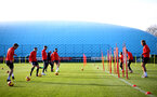SOUTHAMPTON, ENGLAND - JANUARY 08: players participate in a passing drill during a Southampton FC training session at the Staplewood Campus on January 08, 2019 in Southampton, England. (Photo by Matt Watson/Southampton FC via Getty Images)