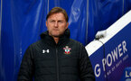 LEICESTER, ENGLAND - JANUARY 12: Ralph Hasenhuttl of Southampton during the Premier League match between Leicester City and Southampton FC at The King Power Stadium on January 12, 2019 in Leicester, United Kingdom. (Photo by Matt Watson/Southampton FC via Getty Images)